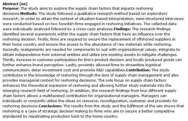 دانلود پایان نامه : ابتکار عمل و بازنگری در زنجیره تامین شرکت ها