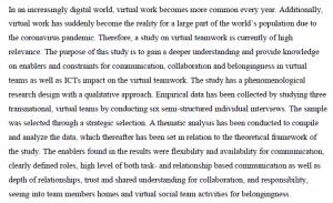 دانلود پایان نامه : بررسی ارتباطات ، همکاری و حس تعلق سازمانی در تیم های مجازی
