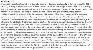 دانلود پایان نامه : بررسی اثرات منفی کشاورزی متمرکز و حفاظت از تنوع زیستی