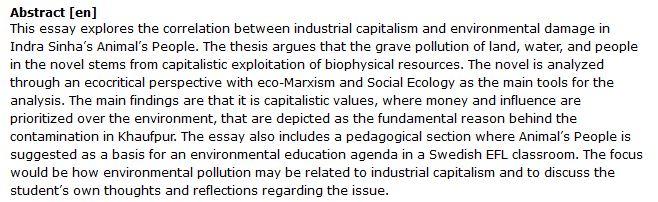 دانلود پایان نامه : بررسی ارتباط سرمایه داری صنعتی و آسیب های زیست محیطی