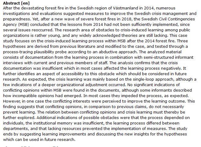 دانلود پایان نامه : بررسی اقدامات لازم برای بهبود مدیریت بحران آتش سوزی جنگل ها