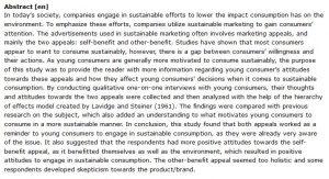دانلود پایان نامه : بررسی تأثیر جذابیت های بازاریابی بر مصرف پایدار