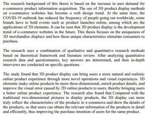 دانلود پایان نامه : بررسی تأثیر نمایش محصولات سایت بصورت سه بعدی در تجربه کاربری UX