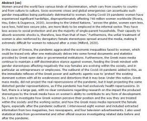 دانلود پایان نامه : بررسی تاثیر بحران های اقتصادی اجتماعی بر تبعیض علیه زنان