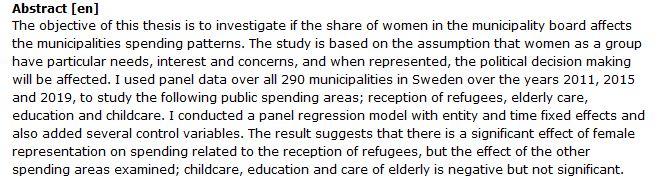 دانلود پایان نامه : بررسی تاثیر حضور زنان در مدیریت شهری بر الگوی هزینه ها