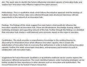 دانلود پایان نامه : بررسی تاثیر مراکز نوآوری بر روند نوآوری منطقه ای