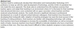 دانلود پایان نامه : بررسی تجربیات آموزش آنلاین معلمان EFL در همه گیری کرونا