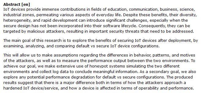 دانلود پایان نامه : بررسی تهدیدهای امنیتی و ایمن سازی دستگاه های اینترنت اشیا