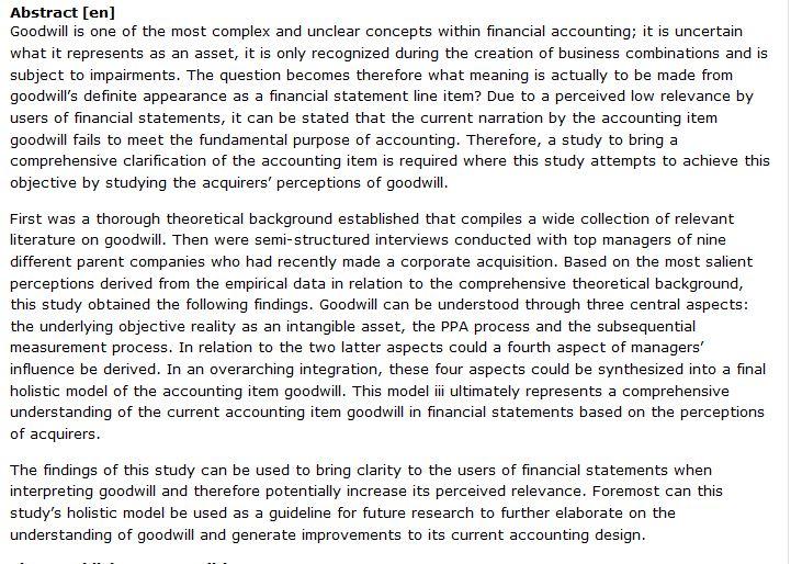 دانلود پایان نامه : بررسی جامع سرقفلی کالا در حسابداری مالی