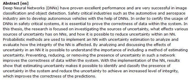دانلود پایان نامه : بررسی درستی داده ها و بهبود ایمنی در شبکه های عصبی عمیق (DNN)