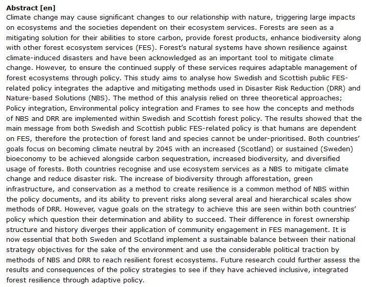 دانلود پایان نامه : بررسی راه حل های مبتنی بر طبیعت (NBS) جهت مقابله با بلایای طبیعی