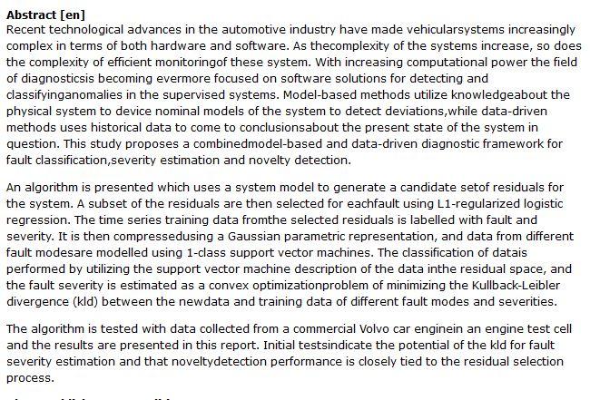 دانلود پایان نامه : بررسی راه حل های نرم افزاری برای تشخیص خطای موتور خودرو