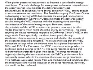 دانلود پایان نامه : بررسی رزونانس در دستگاه مبدل انرژی موج به برق