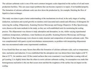 دانلود پایان نامه : بررسی رسوب کربنات کلسیم در سطوح فولاد ضد زنگ بدون و با پوشش