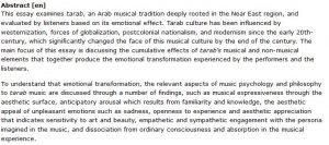 دانلود پایان نامه : بررسی روانشناسی و فلسفه موسیقی عربی tarab در منطقه خاور نزدیک