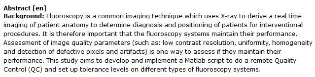 دانلود پایان نامه : بررسی روش های افزایش کیفیت تصاویر فلوروسکوپی با Matlab