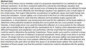دانلود پایان نامه : بررسی روش های عددی برای حل معادلات در مکانیک Bohmian