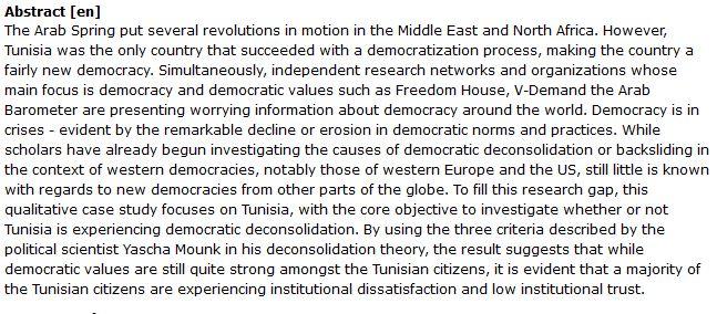 دانلود پایان نامه : بررسی روند دموکراتیک سازی در تونس