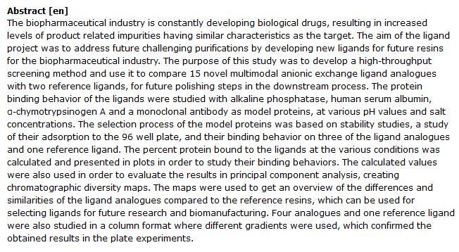 دانلود پایان نامه : بررسی غربالگری رفتار اتصال پروتئین لیگاند در بیو داروها