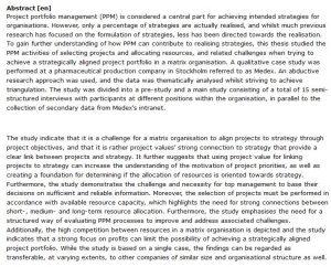 دانلود پایان نامه : بررسی مدیریت نمونه کارهای پروژه (PPM) و تخصیص منابع در یک سازمان ماتریسی