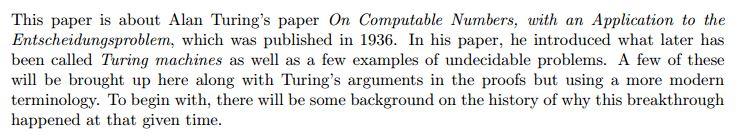 دانلود پایان نامه : بررسی مقاله آلن تورینگ درباره کاربرد الگوریتم ها و اعداد قابل محاسبه در ماشین تورینگ
