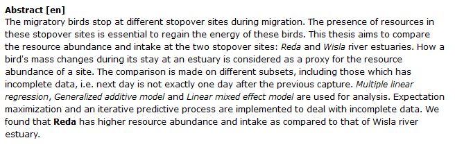 دانلود پایان نامه : بررسی میزان فراوانی منابع در رودخانه و مصرف آن توسط پرندگان مهاجر