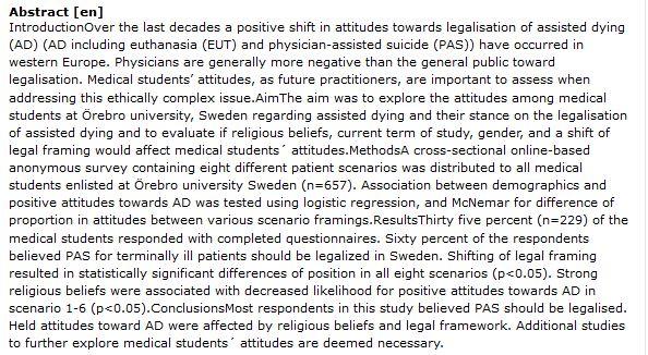 دانلود پایان نامه : بررسی نگرش دانشجویان پزشکی نسب به اتانازی