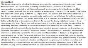 دانلود پایان نامه : بررسی هویت سازی سبک موسیقی کره ای K-pop در بسترهای آنلاین