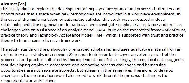 دانلود پایان نامه : بررسی پذیرش و چالش کارمندان در برابر فن آوری های جدید