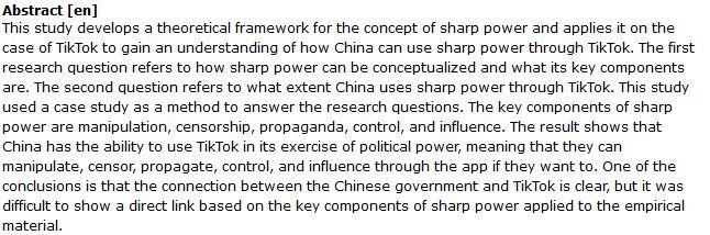 دانلود پایان نامه : بررسی چگونگی استفاده چین از قدرت اپلیکیشن TikTok