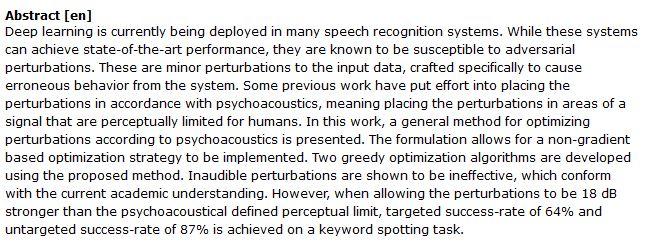 دانلود پایان نامه : بررسی کاربرد یادگیری عمیق در سیستمهای تشخیص گفتار و صوت
