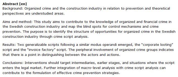 دانلود پایان نامه : تجزیه و تحلیل جرایم سازمان یافته در صنعت ساختمان