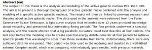 دانلود پایان نامه : تجزیه و تحلیل و مدل سازی هسته کهکشانی فعال FSRQ PKS 1510–089
