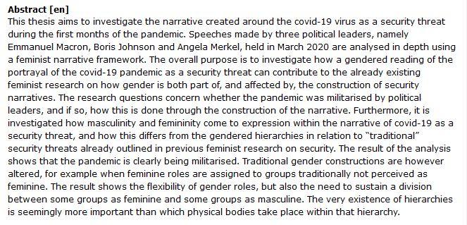 دانلود پایان نامه : تحلیلی انتقادی فمینیستی از همه گیری Covid-19