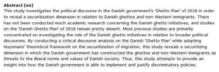 دانلود پایان نامه : تحلیل انتقادی طرح گتو دانمارک و امنیتی سازی مهاجران غیر غربی