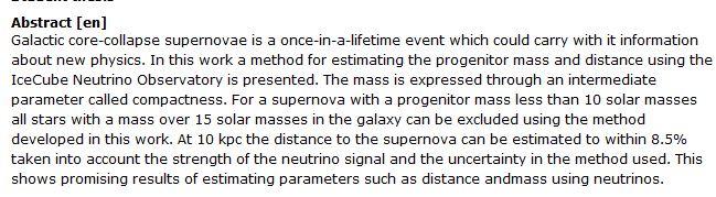 دانلود پایان نامه : تخمین جرم و فاصله فروپاشی هسته ای ابرنواختر