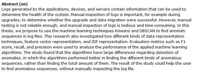 دانلود پایان نامه : تشخیص خطاهای log file در سیستم با یادگیری ماشینی