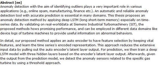 دانلود پایان نامه : تشخیص ناهنجاری های توربین گازی با روش LSTM