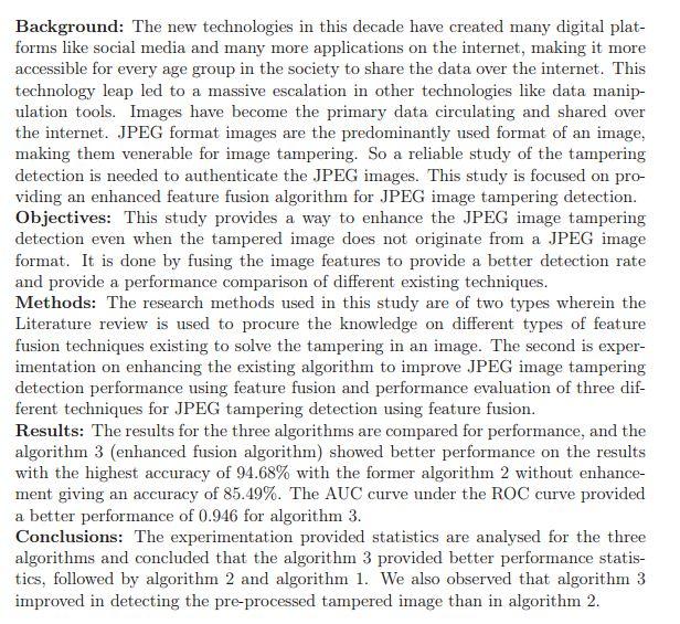 دانلود پایان نامه : تشخیص و تفکیک تصاویر اصل از ویرایش شده به کمک الگوریتم فیوژن