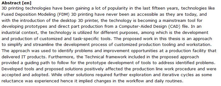 دانلود پایان نامه : توسعه و تولید ابزارهای سفارشی و خاص توسط پرینترهای سه بعدی