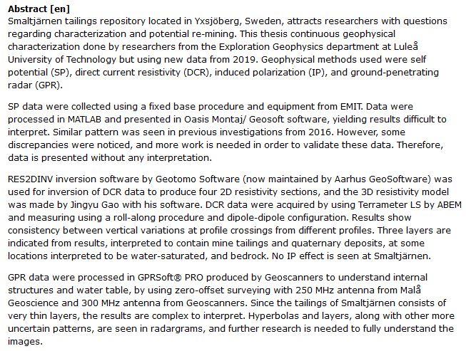 دانلود پایان نامه : روشهای نرم افزاری و ژئوفیزیکی جهت بررسی و بازیافت ضایعات معدنی