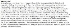 دانلود پایان نامه : رویکردهای ایجاد انگیزه در دانشجویان برای خواندن ادبیات انگلیسی در کلاس