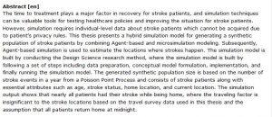 دانلود پایان نامه : شبیه سازی یک جمعیت مصنوعی از بیماران سکته مغزی جهت بررسی عوامل و رفتار