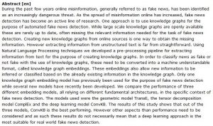 دانلود پایان نامه : شناسایی خودکار اخبار جعلی توسط نمودار دانش با پردازش زبان طبیعی و یادگیری عمیق