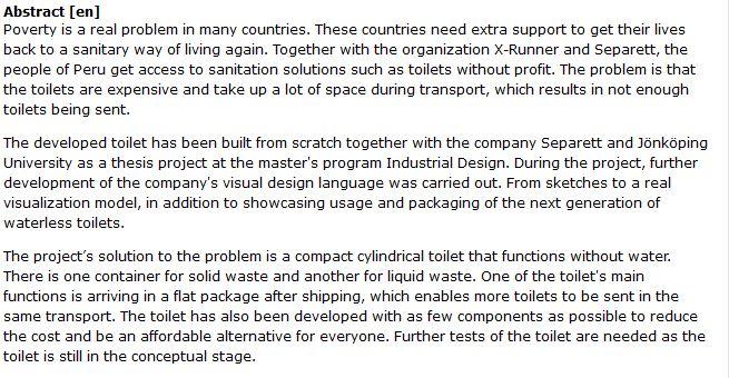 دانلود پایان نامه : طراحی و ساخت سرویس بهداشتی ارزان برای مناطق کمتر توسعه یافته