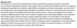 دانلود پایان نامه : مطالعه امکان سنجی و مدل تجاری توربین بادی میکرو عمود محور