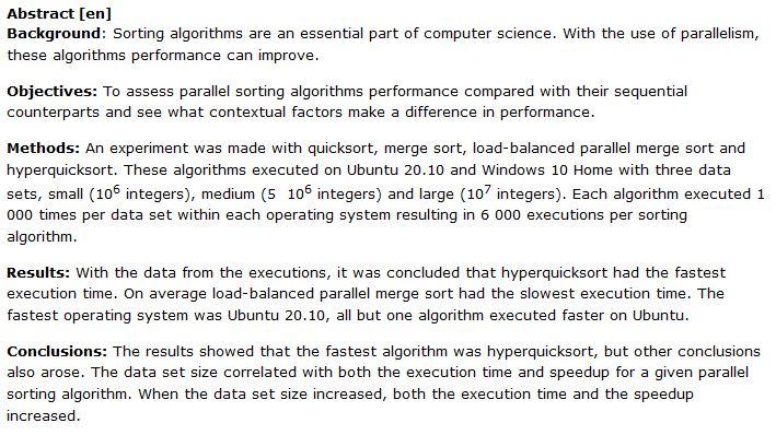دانلود پایان نامه : مطالعه ای درباره تفاوت عملکرد الگوریتم های مرتب سازی موازی و متوالی