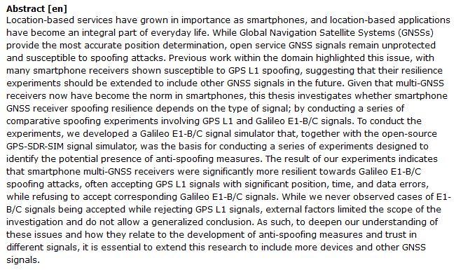 دانلود پایان نامه : مطالعه تطبیقی امنیت گیرنده های سیگنال GPS L1 و Galileo E1-B / C در موبایل