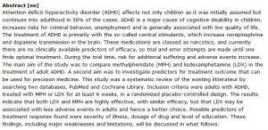 دانلود پایان نامه : مطالعه تطبیقی متیل فنیدیت (MPH) و لیزدگزامفتامین (LDX) در درمان ADHD بزرگسالان