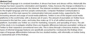 دانلود پایان نامه : مطالعه تطبیقی زبان مورد استفاده اخبار در توییتر و سایت ها